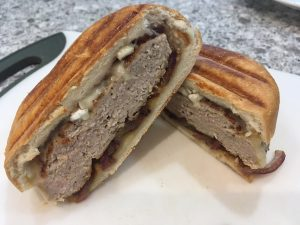turkey patty melt panini