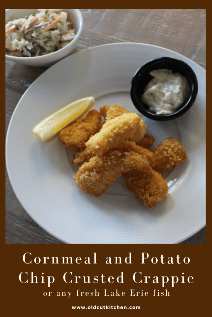 cornmeal and potato chip crusted fish