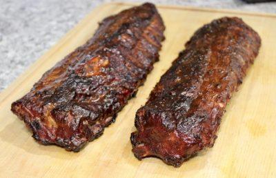 smoked pork back ribs