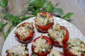 caprese stuffed tomatoes