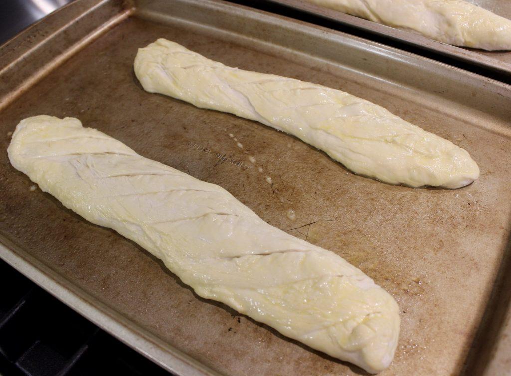 homemade baguette