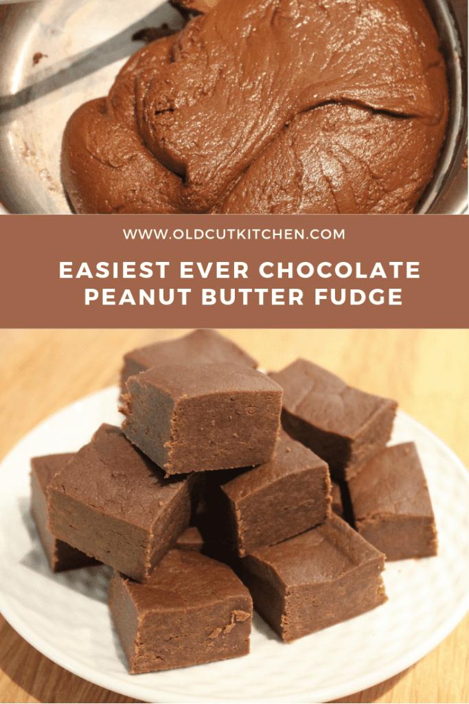 easiest ever chocolate peanut butter fudge