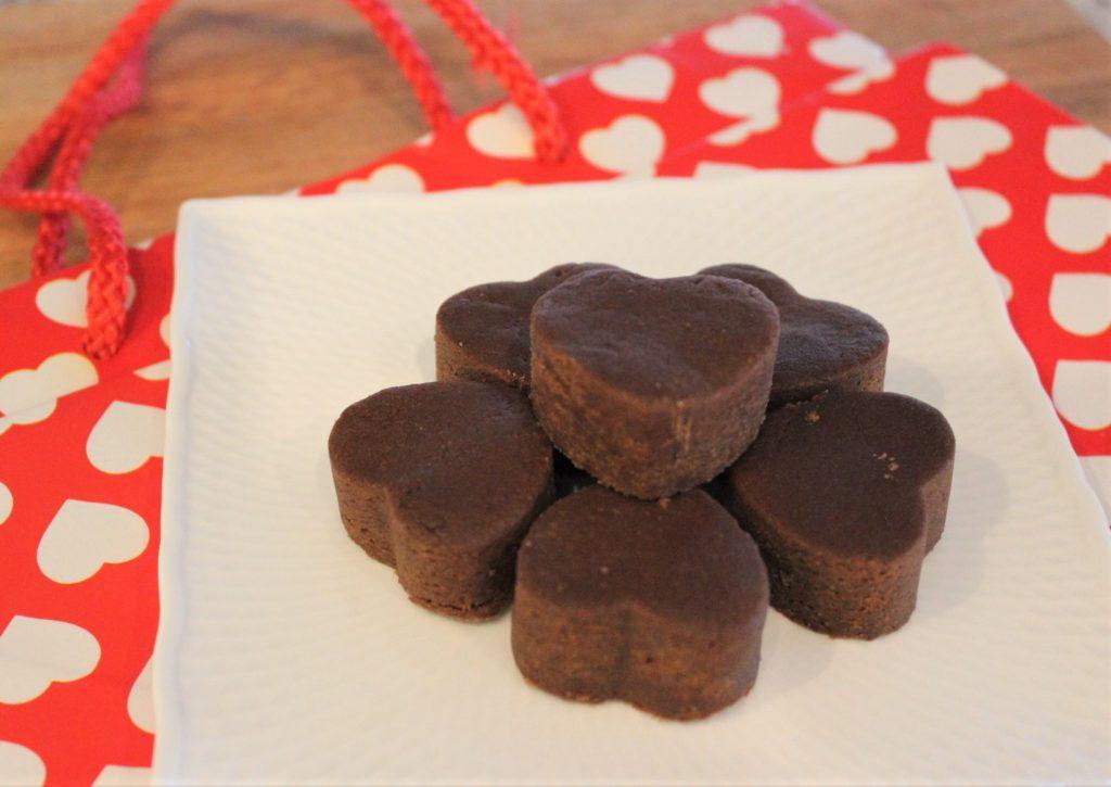 chocolate peanut butter fudge hearts