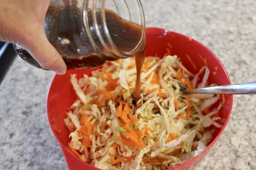 napa cabbage salad with ramen noodles