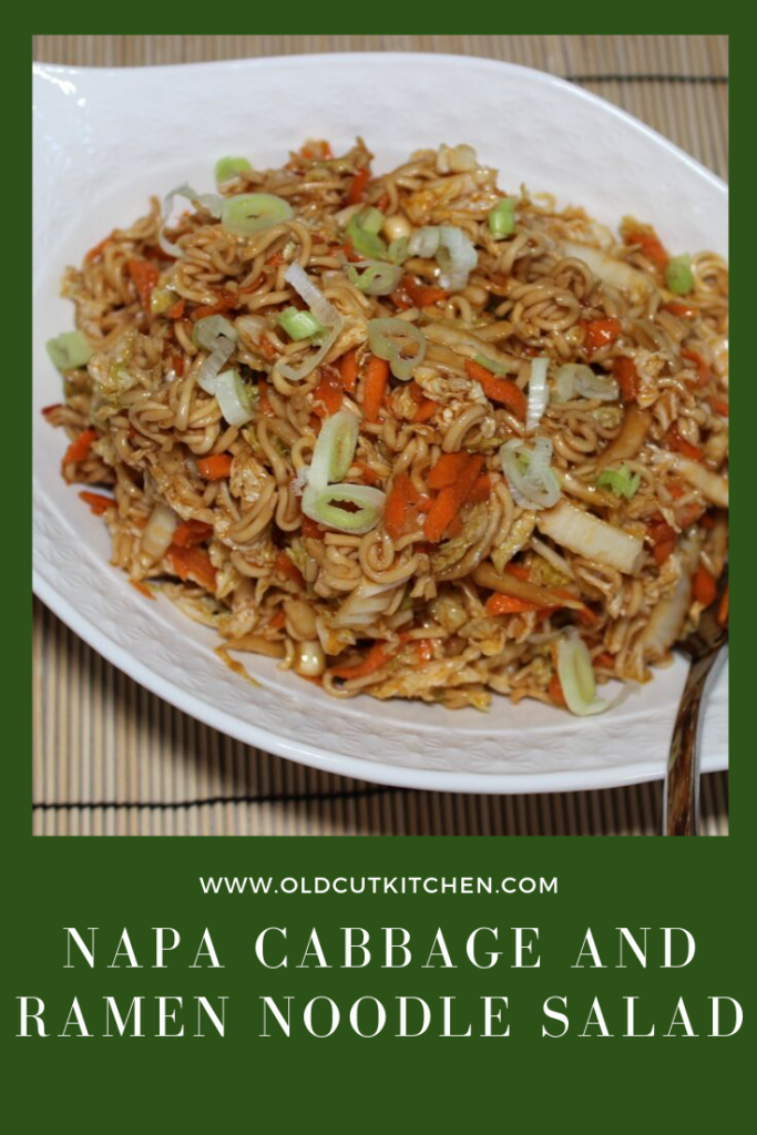 napa cabbage and ramen noodle salad