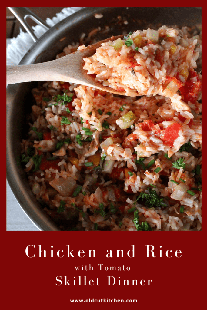 chicken rice tomato skillet dinner