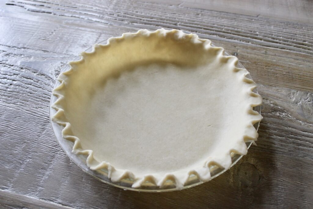 unbaked pie shell