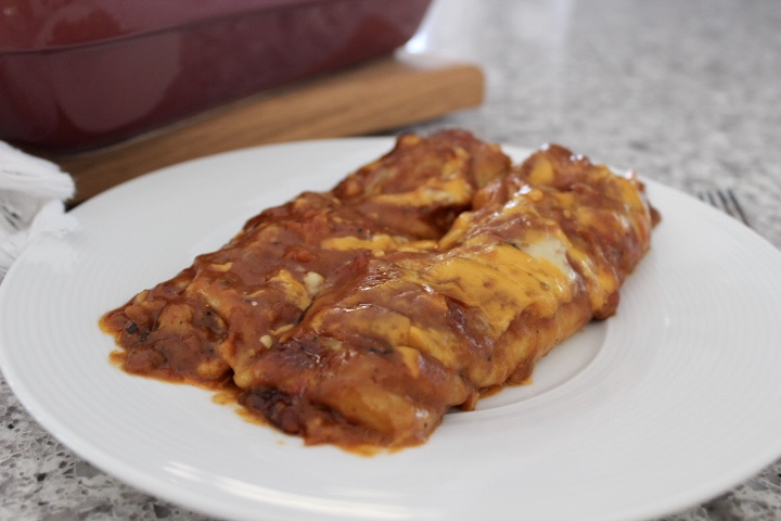 beef and black bean enchiladas
