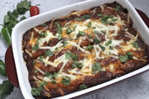 beef and black bean enchiladas
