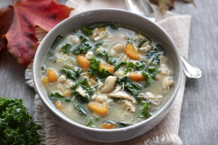 Turkey Soup with White Beans and Kale