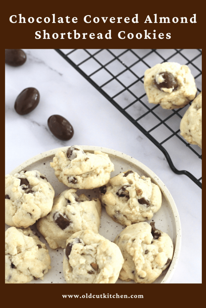 chocolate covered almond shortbread cookies